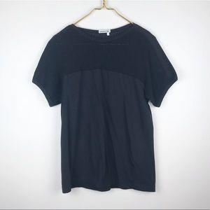 Lacoste Mesh Top Short Sleeve Knit Tee Shirt Top